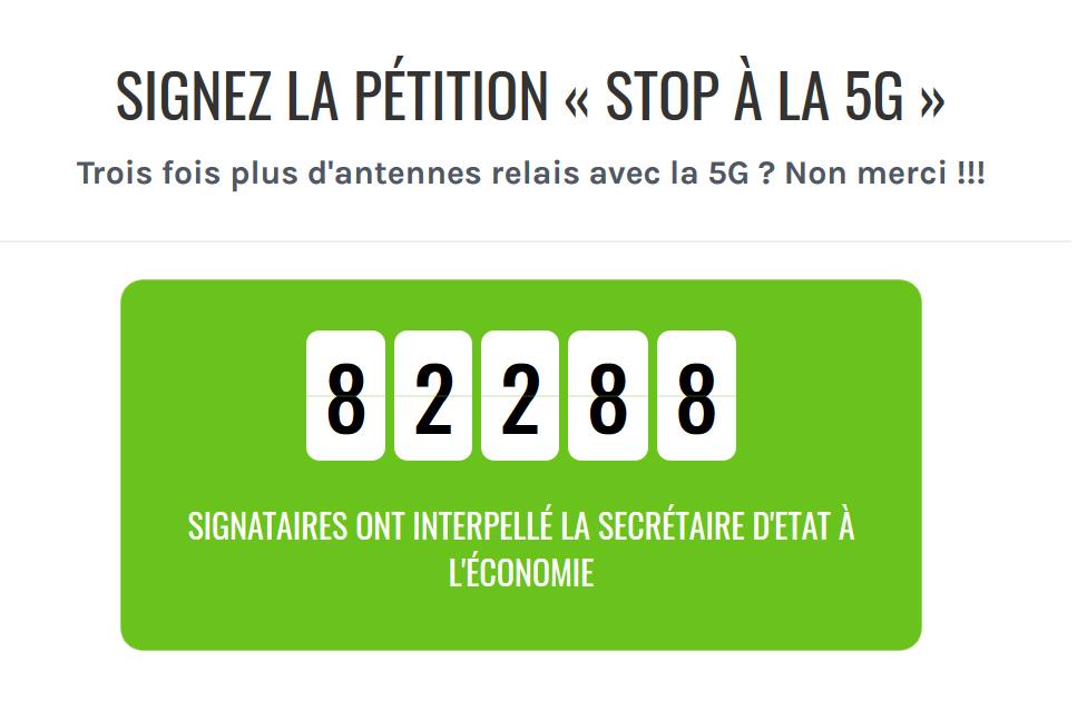 """Signez et faites signer la pétition """"Stop à la 5G"""""""